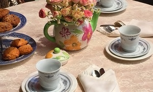 A Secret Garden Florist Cafe: English High Tea with Flower Shop Credit for Two or Four at A Secret Garden Florist Cafe (Up to 42% Off)