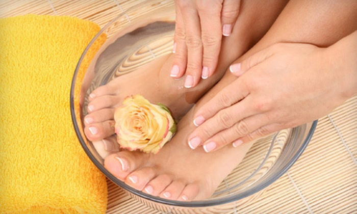 Peace Love Hair Salon and Boutique - Wichita: $19 for a Classic Mani-Pedi at Peace Love Hair Salon and Boutique ($39 Value)
