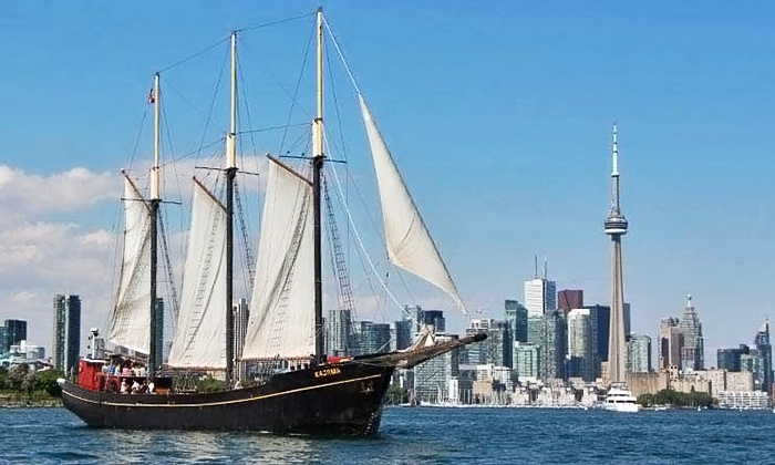 Dinner Cruise on Tall Ship Kajama - Downtown Toronto: C$69 for a Four-Hour Dinner Dance Cruise Aboard the Tall Ship Kajama (C$117 Value)