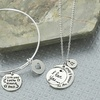 Up to 67% Off Personalized Bangle or Necklace