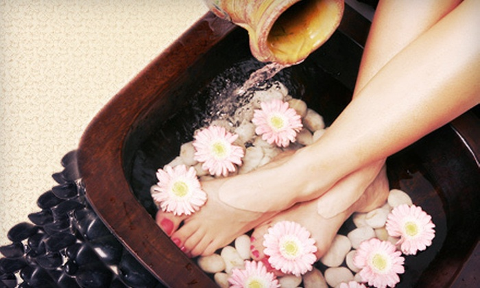 Panda Paw Day Spa - Village Seven: One or Three Ionized Detox Foot Spa Treatments at Panda Paw Day Spa (Up to 70% Off)