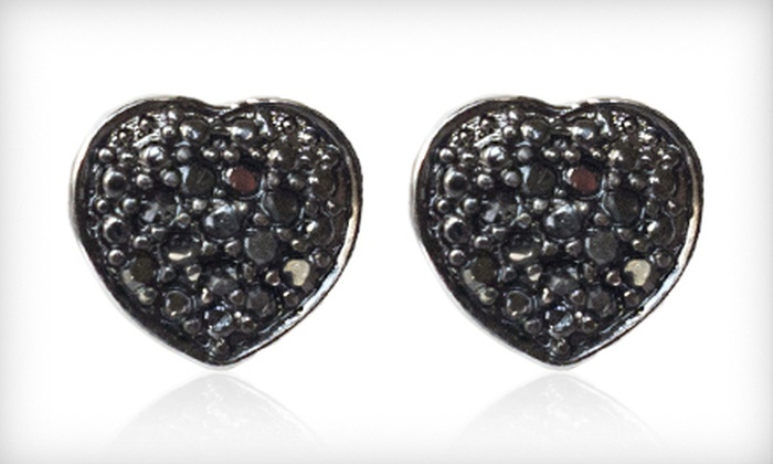 Black-Diamond Heart Stud Earrings: $39 for a Pair of 0.25-Carat Black-Diamond Heart Stud Earrings ($200 List Price). Free Shipping.