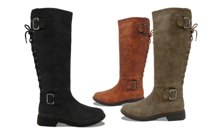 Carrini Women's Riding Boot. Multiple Colors Available.