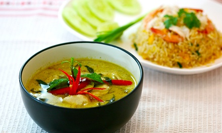 TwoCourse Thai with Soft Drinks for Two $29 or Four People $58 at Trinity Thai Restaurant Up to $149.60 Value