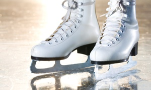 Pines Ice Arena: Ice Skating for Two with Cocoa or  30-Minute Private Skating Lesson for Two at Pines Ice Arena (Up to 44% Off)