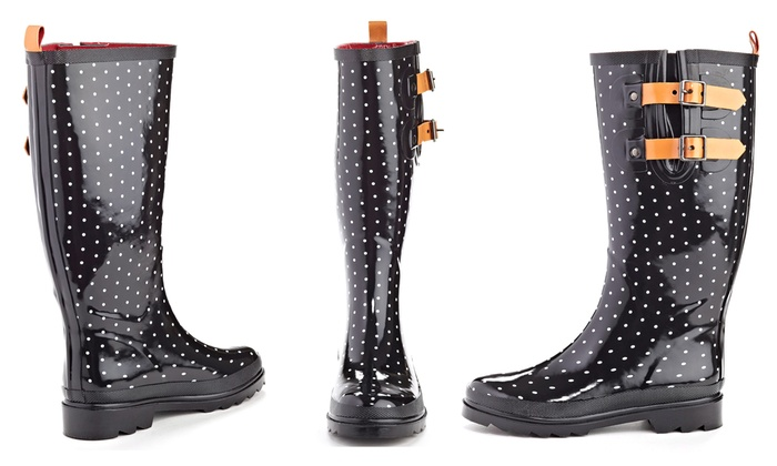 Women's Polka Dot Rain Boots | Groupon Goods