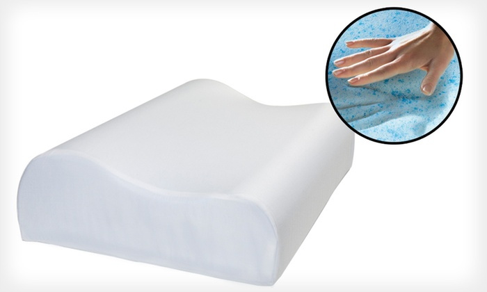 Gel Memory-Foam Contour Pillow: $39 for a Memory-Foam Contour Pillow with 300-Thread-Count Egyptian Cotton Cover ($129.99 List Price). Free Shipping.