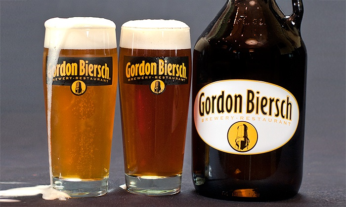 Gordon Biersch Brewery Restaurant - Pacific Place: $25 for Two 21-Ounce Beers and One Growler to Take Home Filled with Choice of Beer at Gordon Biersch Brewery Restaurant ($32 Value)