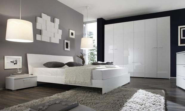 Camera Da Letto Bianco Lucido : Camera da letto completa groupon goods