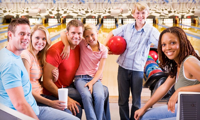 Nesbit's Lanes - Plum: Bowling Package with Pizza and Soda for Two, Four, or Six at Nesbit's Lanes (Up to 66% Off)