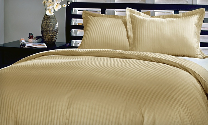 100% Cotton Stripe Duvet Cover Set: $39 for a Cotton Stripe Duvet Cover and Sham Set ($89.99 List Price). Eight Colors Available. Free Shipping and Returns.