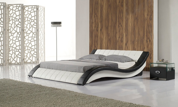 best sneakers 51d10 bceb2 Cosmo Faux Leather Bed Frame (from €289.98) with Mattress (from €449.98)  With Free Delivery (Up to 64% Off)