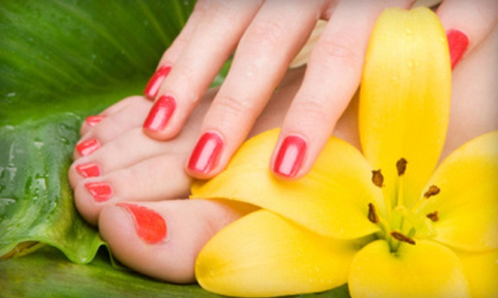 Brandi G. Lam - Northeast Meridian: Olive Mani-Pedi, Shellac Manicure and Olive Pedicure, or Shellac Mani-Pedi from Brandi G. Lam (Up to 59% Off)