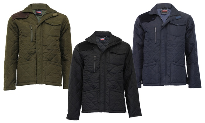 Mareno Quilted Jacket with Corduroy Details for £24.98