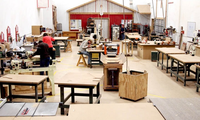 American Workshop - River Bluffs: Cutting-Board Woodworking Course with Option for Shaker-Table Course at American Workshop (Up to 59% Off)
