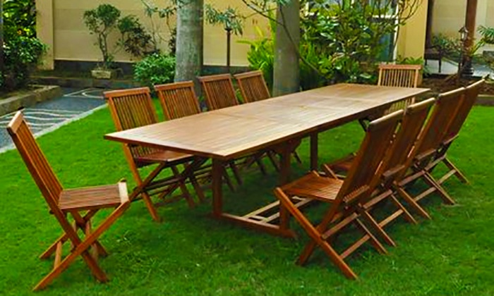 Salon jardin teck huilé | Groupon Shopping