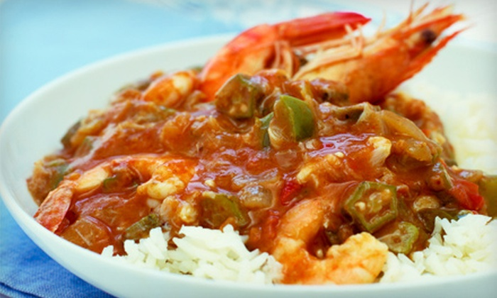 Crossroads - Garwood: Cajun Dinner and Drinks for Two or Four at Crossroads (Up to 51% Off). Four Options Available.