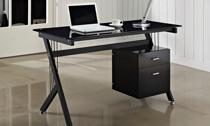 Black High Gloss Computer Desks Groupon Goods