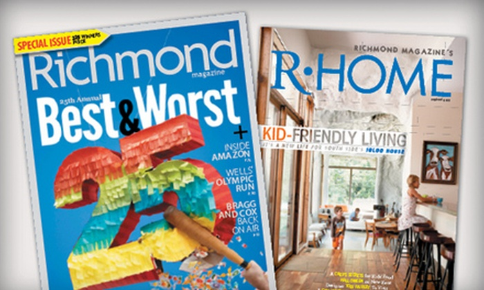 "Richmond Magazine: $14 for a Two-Year Subscription to ""Richmond"" and ""R Home"" Magazines ($26 Value)"