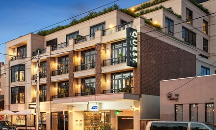 Melbourne: 1- or 2-Night Stay for Two with Wine, Late Check-Out, Parking, and Wi-Fi at Quest Hawthorn Studios