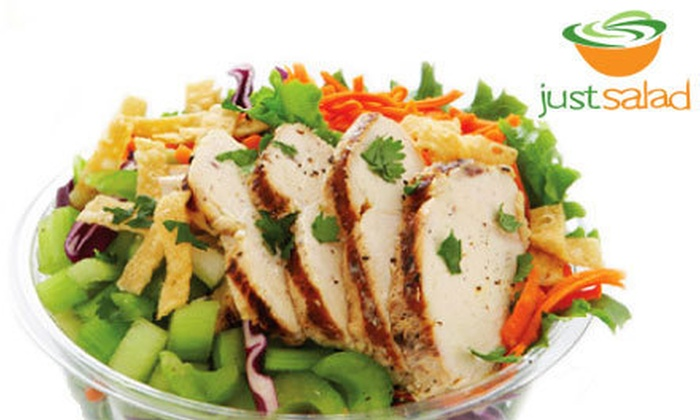 Just Salad - Multiple Locations: $8 for $12 Worth of Specialty or Made-to-Order Salads and Wraps at Just Salad