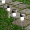 Solar White LED Garden Path Lights (Multiple Options Available)