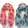 Women's Convertible Skull-Patterned Pareo Scarf