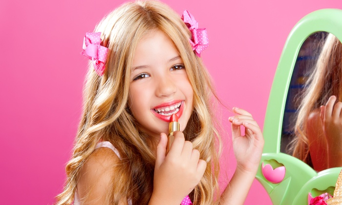 Sweet & Sassy - Multiple Locations: Glittery Glam Express Spa Package or Ultimate Makeover for One or Two Kids at Sweet & Sassy (Up to 55% Off)