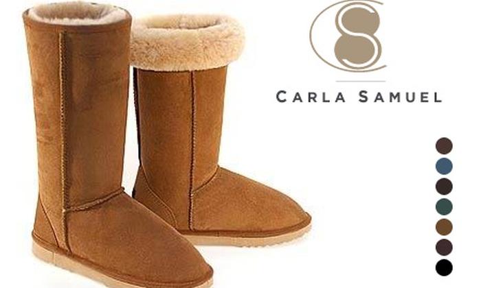 e4d3b98deb2 Bottes fourrées cuir Carla Samuel