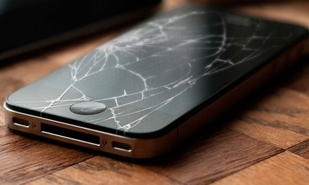 Screen Repair for Apple and Samsung Products at AS Wireless (Up to 54% Off). Seven Options Available.