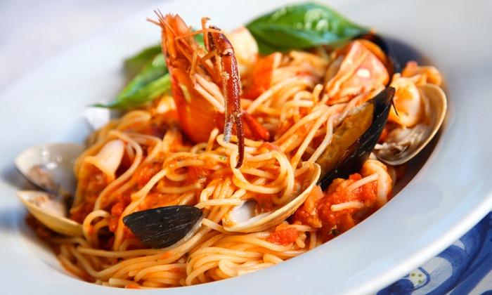 RISTORANTE PIZZERIA DA MIRCO - Da Mirco: Menu di pesce di 4 portate con vino al Ristorante da Mirco da 34 € invece di 96,40