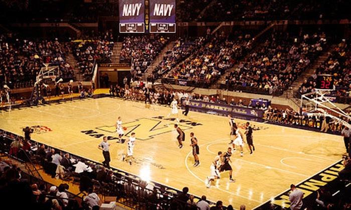 U.S. Naval Academy Basketball - Annapolis: U.S. Naval Academy Men's or Women's Basketball for Two at Alumni Hall (Half Off). Four Games and Food Option Available.