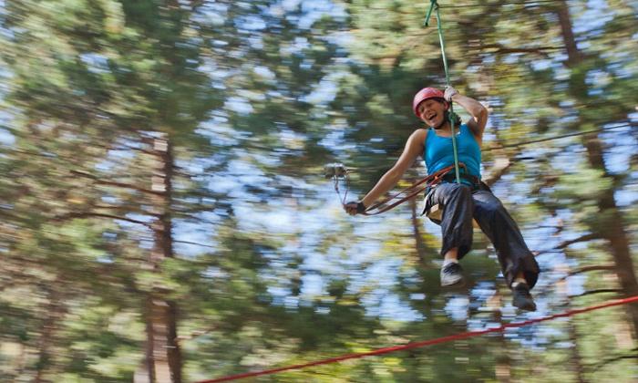 Durbuy Adventure - Durbuy: Accrobranche, escalade, kayak... Journée au parc Durbuy Adventure pour 2 ou 4, option nuit en tipi dès 39,99 €