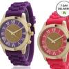 Women's Silicone Glitter Core Watch
