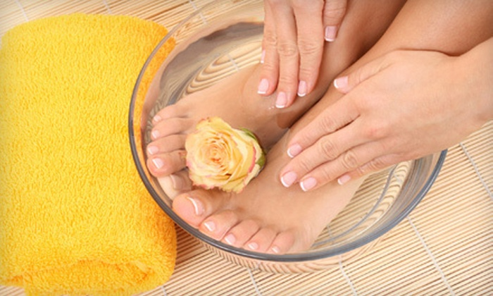 Pro Nails & Tan - Gainesville: Basic Mani-Pedi with French Tips or Shellac Manicure with Signature Pedicure at Pro Nails & Tan (Up to 53% Off)