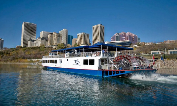 """Edmonton Queen Riverboat - Rafter's Landing: One-Hour Boat Tour for Two or Four from the """"Edmonton Queen Riverboat"""" (Up to 46% Off)"""