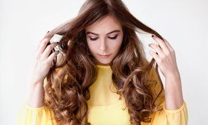 The Lounge, a place for hair: Haircut and Style or 1 or 3 Blowouts with Hair Conditioning at The Lounge, A Place for Hair (Up to 54% Off)
