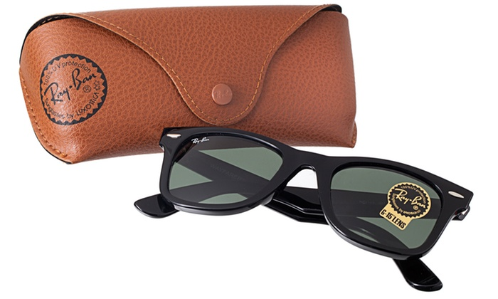 Unisex Ray-Ban Sunglasses: Ray-Ban Unisex Aviator or New Wayfarer Sunglasses in Black or Wayfarer Sunglasses in Black or Tortoise. Free Shipping.