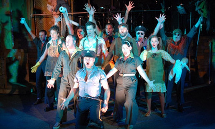 """Urinetown: The Musical"" - Huntley: GreenRoom Productions' ""Urinetown: The Musical"" with Soft Drinks for Two or Four in Huntley (Up to 59% Off)"