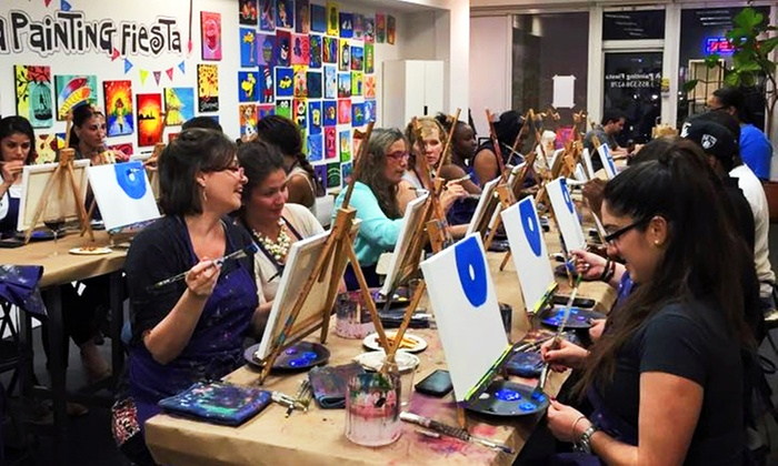 A Painting Fiesta - North Miami: $24 for a 2.5-Hour Sip-and-Paint BYOB Painting Class at A Painting Fiesta ($45 Value)