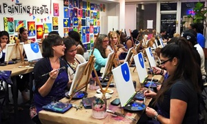 A Painting Fiesta: $24 for a 2.5-Hour Sip-and-Paint BYOB Painting Class at A Painting Fiesta ($45 Value)