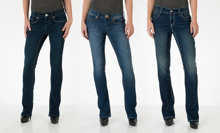 Seven7 Women's Rocker Slim Denim. Multiple Styles Available.