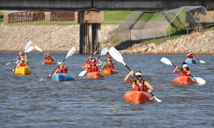 OKC Riversport - RIVERSPORT Adventures Lake Overholser: Discover Kayaking Class or Discover Rowing Class for One or Two from OKC Riversport (Up to 51% Off)