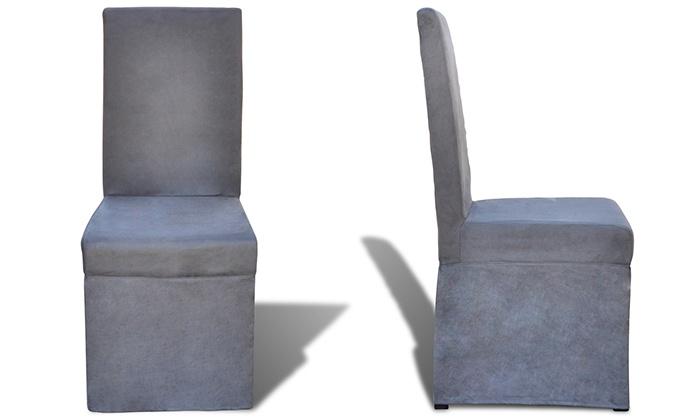 Esszimmerstühle Im Leder Look | Groupon Goods