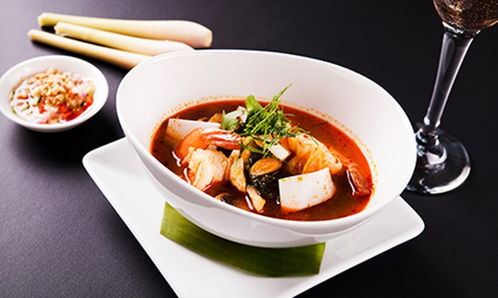 Star Thai Restaurant - St Marys Bay: Three-Course Dinner with Wine for Two ($39) or Four People ($69) at Star Thai Restaurant, Ponsonby (Up to $206 Value)