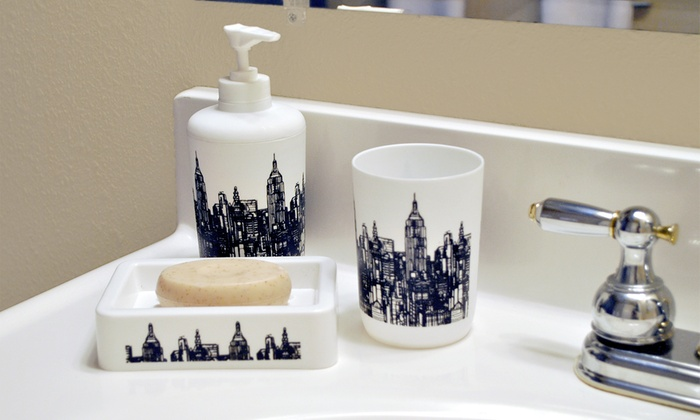 16-Piece Bathroom Accessory Set: 16-Piece Bathroom Accessory Set