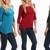 Double Zipper Fit-and-Flare Tunic