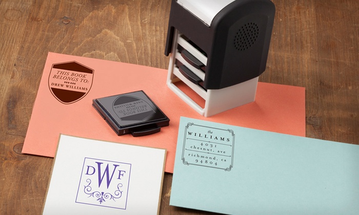 Personalized Self-Inking Stampers: Self-Inking Stamper with Personalized Designs from Mason Row. Multiple Options from $24.99–$39.99. Free Shipping.
