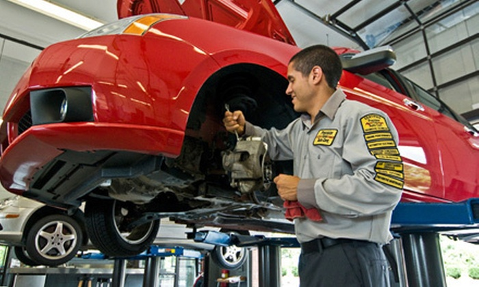 Precision Tune Auto Care - Multiple Locations: $34 for Premium Oil Change, Tire Rotation, Wiper-Blade Replacement, Battery and Charging-System Check, and Brake Inspection at Precision Tune Auto Care (Up to $121 Value). Five Locations Available.