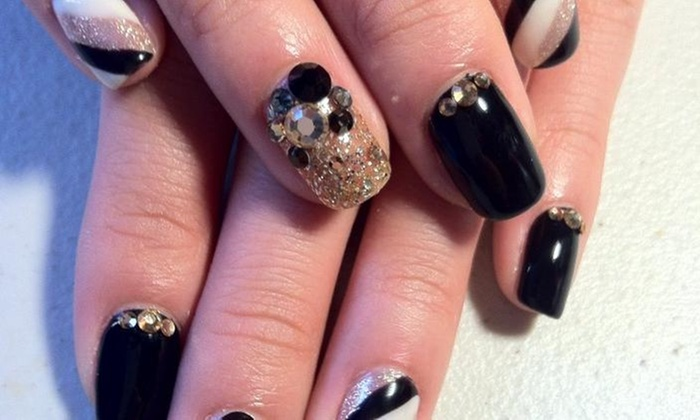 Kpop Nail - Flushing: A Manicure with Nail Design from kPOP NAIL SALON (50% Off)